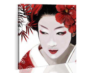 Obraz - Japońska Gejsza 80x80 cm