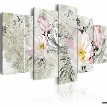 Obraz - magnolia - styl retro 100x50 cm