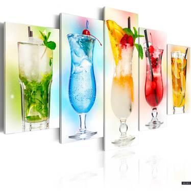 Obraz - Tęczowe drinki 100x50 cm