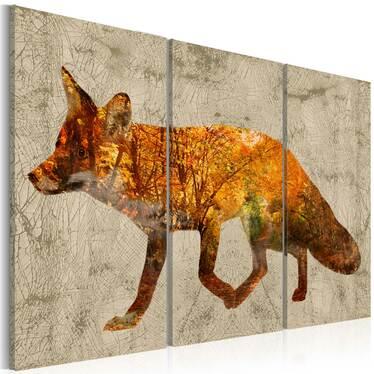 Obraz - Lis w lesie 120x80 cm