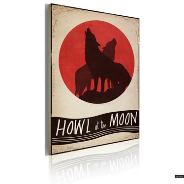 Obraz - Midnight wolves 50x70 cm
