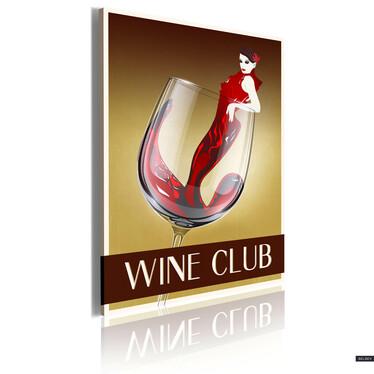 Obraz - Wine Club 50x70 cm
