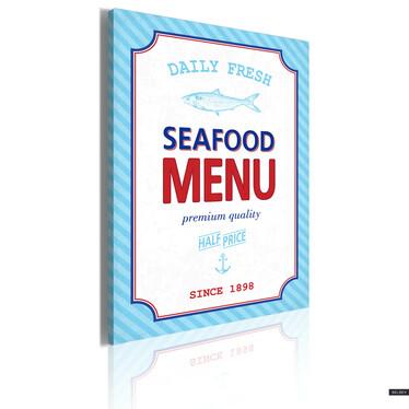 Obraz - Seafood menu 50x70 cm
