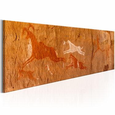 Obraz - Malowidła naskalne 135x45 cm