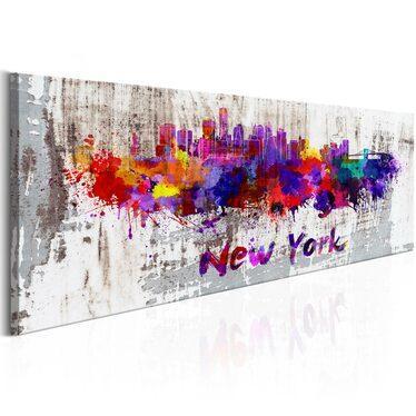Obraz - Miasto artystów 135x45 cm