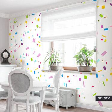 Fototapeta - geometryczne konfetti 50x1000 cm