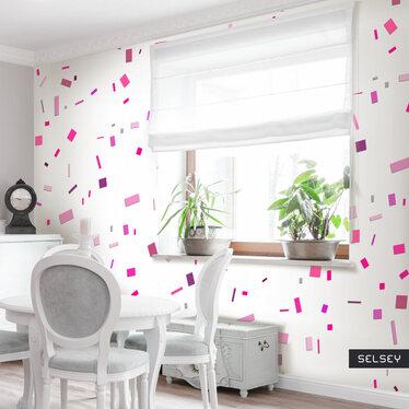 Fototapeta - Różowe konfetti 50x1000 cm