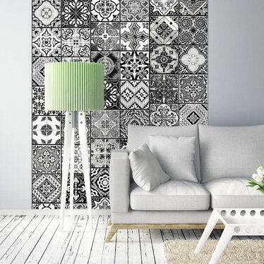 Fototapeta - Arabeska - Czerń i biel 50x1000 cm