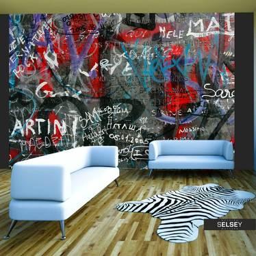 Fototapeta - Urban graffiti 350x270 cm