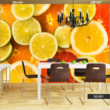Fototapeta - Citrus fruits 250x193 cm