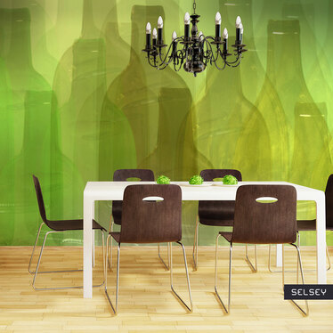 Fototapeta - Zielone butelki 350x270 cm