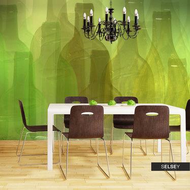 Fototapeta - Zielone butelki 200x154 cm