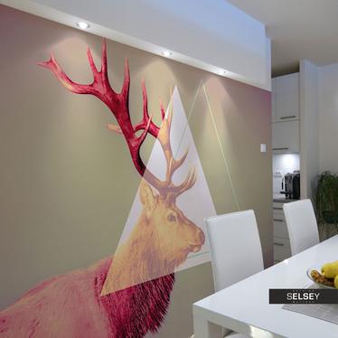 Fototapeta - jeleń (motyw graficzny) 400x309 cm