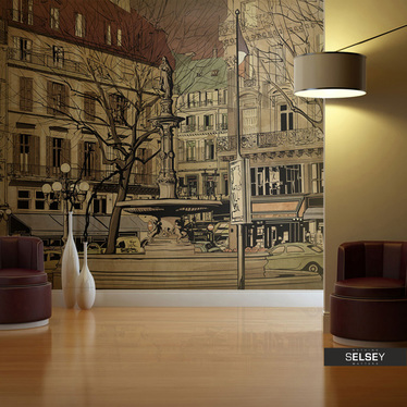 Fototapeta - Parisian fountain 300x231 cm