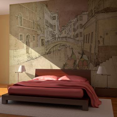 Fototapeta - Gondolas in Venice 350x270 cm