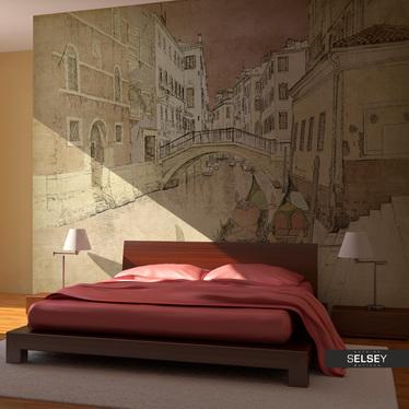 Fototapeta - Gondolas in Venice 200x154 cm