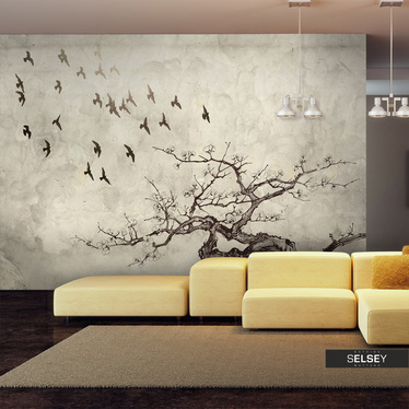 Fototapeta - Flock of birds 300x231 cm