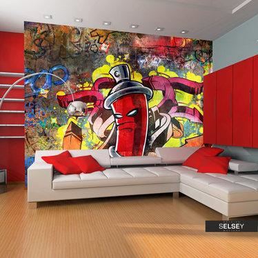 Fototapeta - Graffiti monster 350x270 cm