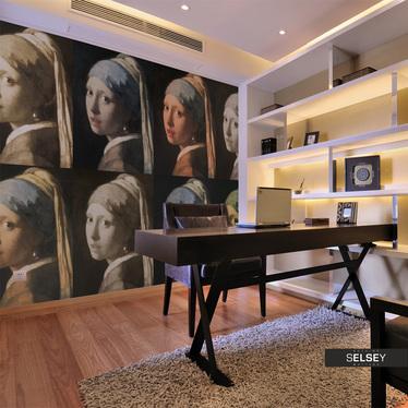 Fototapeta - Dziewczyna z perłą (Pop art) 350x270 cm