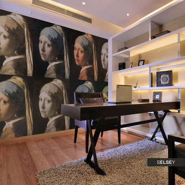 Fototapeta - Dziewczyna z perłą (Pop art) 400x309 cm