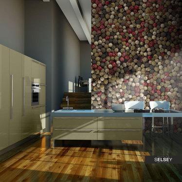 Fototapeta - Mozaika z kolorowego pieprzu 400x309 cm