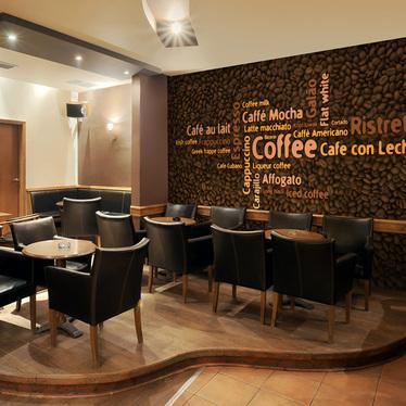 Fototapeta - Latte, espresso, cappucino... 350x270 cm