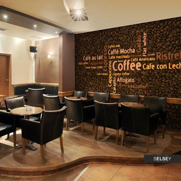 Fototapeta - Latte, espresso, cappucino... 250x193 cm