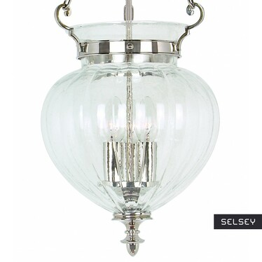 Lampa wisząca Finsbury Park Nickel duża