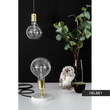 Lampa stołowa Loft Marble Gold
