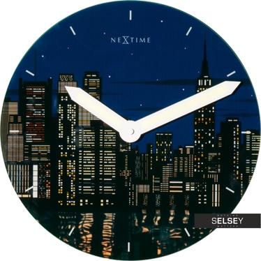 Zegar ścienny New York średnica 30cm fluorescencyjny