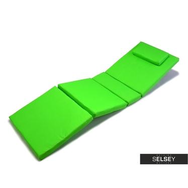 Poduszka na leżak zielona