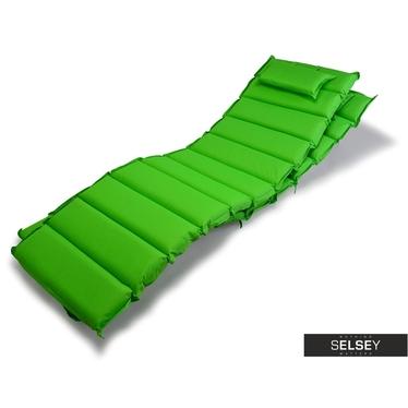 Poduszka na leżak 11 segmentów zielona
