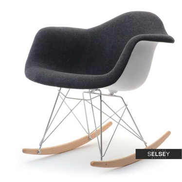 Krzesło bujane MPA roc tap czarne do modnego salonu