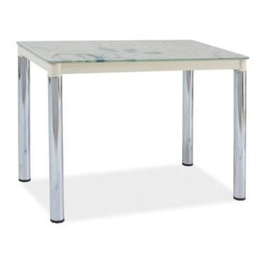 Stół Skast 100x60 cm kremowy na chromowanej podstawie