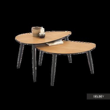 Zestaw stolików kawowych Namur 80x45 cm i 80x50 cm