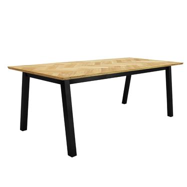 Stół Brighton 220x95 cm blat w jodełkę