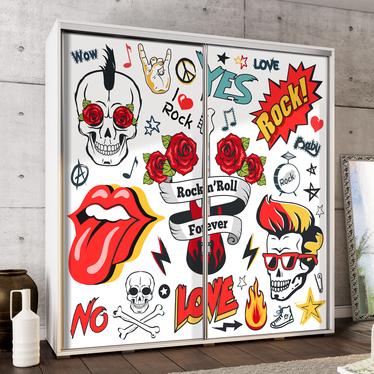 Szafa Wenecja 205 cm Rock'n'roll forever