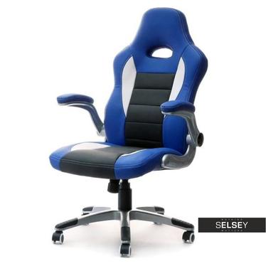 Fotel gamingowy Racer 3 niebiesko-czarny