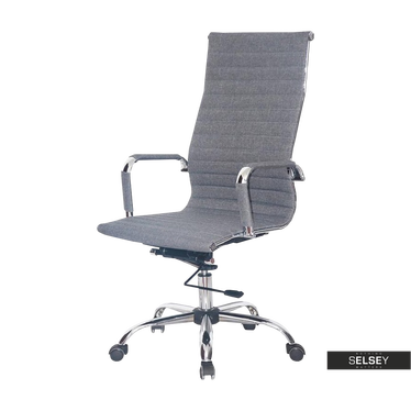 Fotel biurowy Olimp szara tkanina