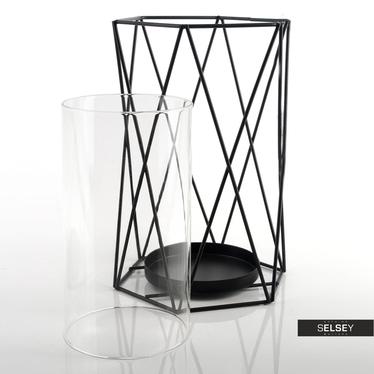 Lampion Elvira 23 cm czarny