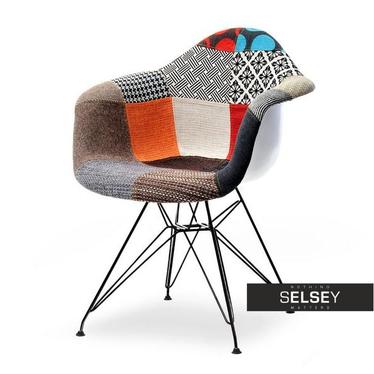 Krzesło MPA rod tap patchwork 1 - czarny