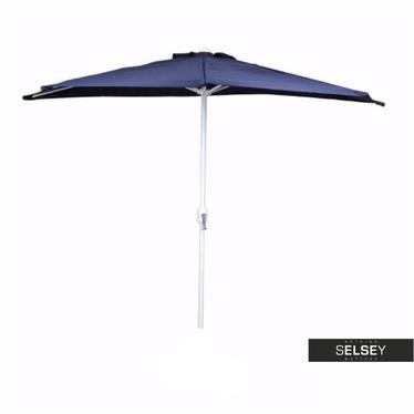 Parasol ogrodowy przyścienny niebieski