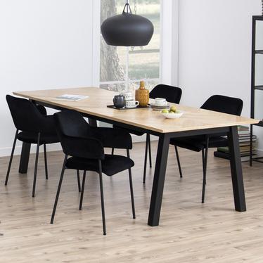 Zestaw dwóch krzeseł tapicerowanych Adansonia czarne