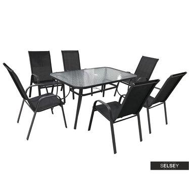 Zestaw ogrodowy Milar stół z sześcioma krzesłami
