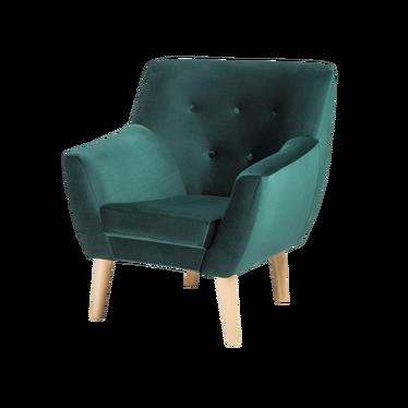 Fotel Reine zielony welur