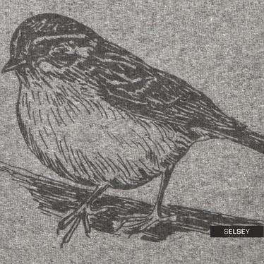 Poduszka z poszewką Bird 40x40 cm