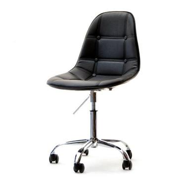 Fotel biurowy MPC move tap czarny - chrom pikowany