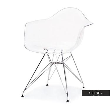 Krzesło MPA rod transparentne do nowoczesnego salonu