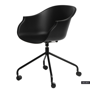 Fotel Roundy czarny