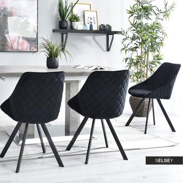 Krzesło Jonas czarne na czarnych nogach